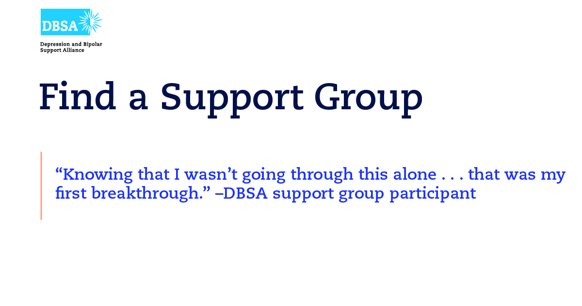 Find a Support Group - Depression and Bipolar Support Alliance