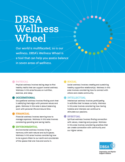 DBSA Wellness Wheel Workbook