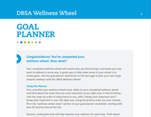 Wellness Wheel Goal Planner