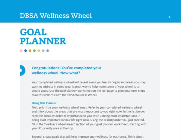 Wellness Wheel Goal Planner